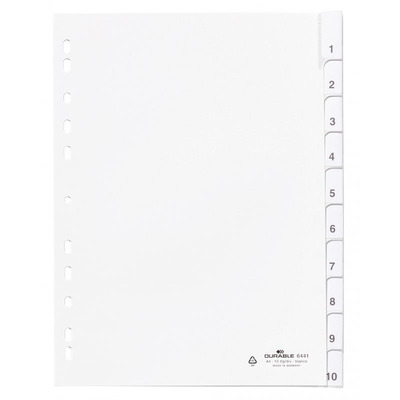 Durable 6441-02 Indextab - Wit