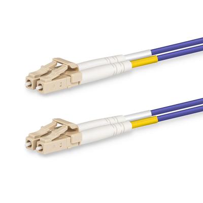 Lanview LC-LC Multimode fibre cable, duplex, OM4, LSZH, Purple, 1 m Fiber optic kabel - Paars