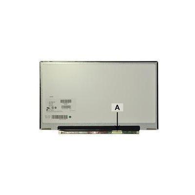 "2-power notebook reserve-onderdeel: 33.782 cm (13.3 "") HD+ 1366x768 LED Glossy - Zwart, Wit"