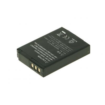2-power batterij: Digital Camera Battery, Li-Ion, 3.7V, 1050mAh, Black - Zwart