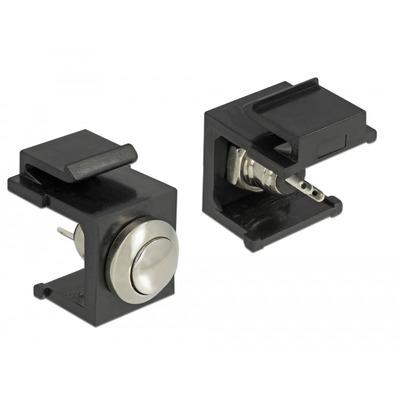 DeLOCK 86402 Kabel connector - Zwart, Roestvrijstaal
