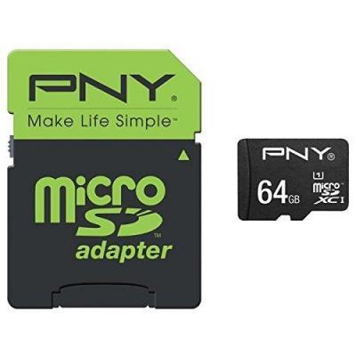 Pny flashgeheugen: MicroSD Performance 64GB - Zwart