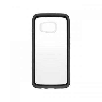 Otterbox mobile phone case: Galaxy S7 edge Symmetry Series Clear Case - Zwart, Transparant