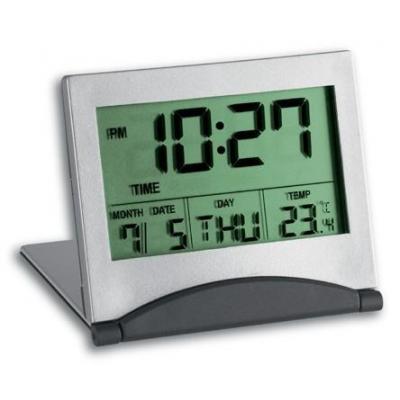 Tfa wekker: Multi-functional digital alarm clock - Grijs, Zilver