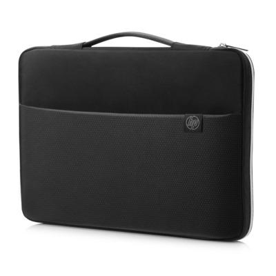 "Hp laptoptas: 14"" Carry Sleeve Black/Silver - Zwart, Zilver"