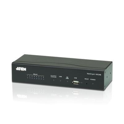 ATEN RJ-45, 10/100Base-T, USB Type A, 5 VDC, 10 W, Black Switch - Zwart