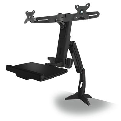 ICY BOX IB-MS600-T2 Monitorarm - Zwart