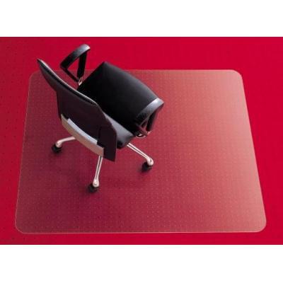 Rexel anti-statische vloermat: Stoelmat 1,21x0,92m E-vorm Transparant