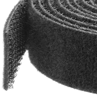 Startech.com kabelbinder: Klittenband kabelbinder 7,5 m rol zwart