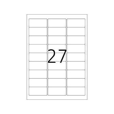 Herma etiket: Naametiketten acetaatzijde rood 63.5x29.6 A4 LC - Wit