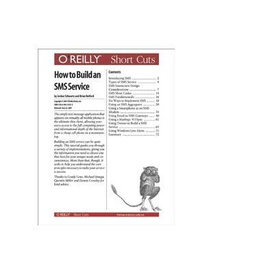 O'reilly boek: Media How to Build an SMS Service - eBook (PDF)