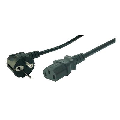 LogiLink CEE 7VII, EN 320-C13, 3 m, Black Electriciteitssnoer - Zwart