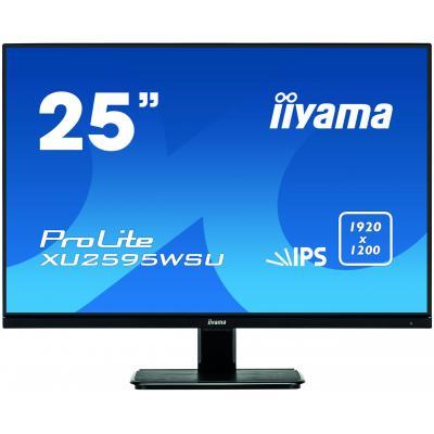 """Iiyama monitor: ProLite XU2595WSU-B1, 63.373 cm (24.95"""") , 1920x1200, 16:10, IPS LED, 4 ms, VGA, HDMI, DP, USB 2.0, ....."""