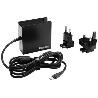 Sandberg USB-C PD AC-Charger 90W EU+UK Oplader - Zwart