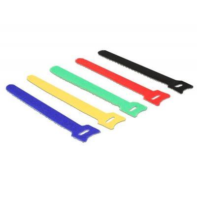 Delock kabelbinder: 150 x 12 mm, 10 pcs - Zwart, Blauw, Groen, Rood, Geel