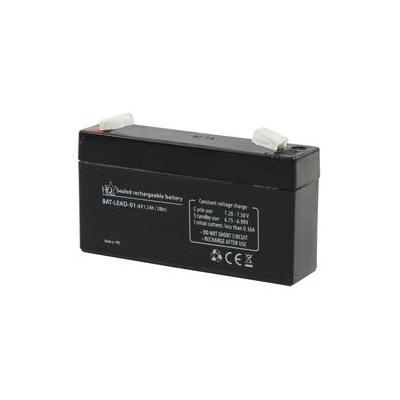 HQ UPS batterij: Lead-Acid 6V 1.2Ah - Zwart