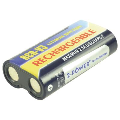 2-Power Digital Camera Battery 3v 1100mAh - Zwart, Geel