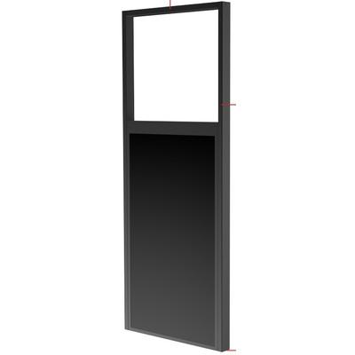 "Peerless DS-OM46ND-FLOOR, 46-55"", Matte Black, 686x175x2237mm TV standaard - Zwart"