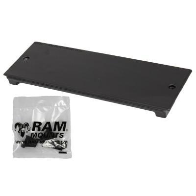 """RAM Mounts 7.62 cm (3"""") Filler Face Plate Montagekit - Zwart"""