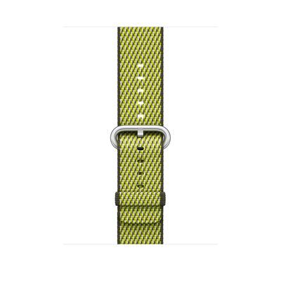 Apple : Bandje van geweven nylon - Donker olijfgroen (42 mm)