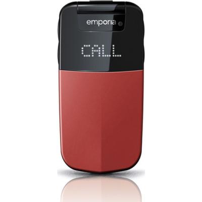 Emporia mobiele telefoon: Glam - Zwart, Rood, Alphanumeric keypad