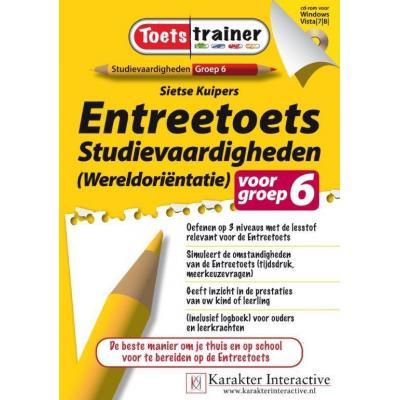 Karakter educatieve software: Toetstrainer Entreetoets Studievaardigheden (Wereldorientatie) voor Groep 6