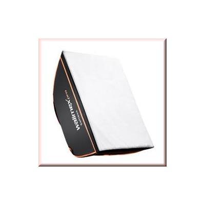 Walimex softbox: pro Softbox OL 50x70cm Multiblitz V - Zwart, Wit