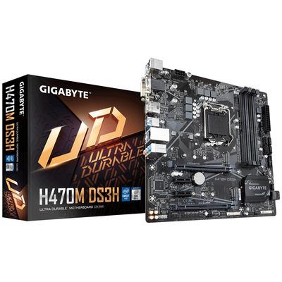 Gigabyte Intel H470 Express, Socket 1200, 4x DDR4 DIMM, DP, HDMI, DVI-D, VGA, M.2, SATA III, 1G LAN, USB 3.2, .....