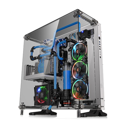 Thermaltake behuizing: Core P5 Tempered Glass Snow Edition - Zwart, Wit
