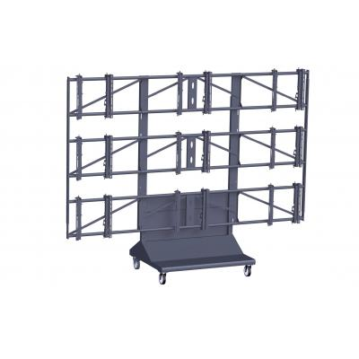 Vogel's PFT 8810 Video wall trolley, 3x3 TV standaard - Zwart