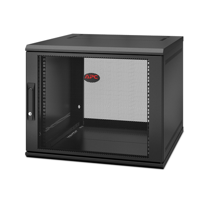 APC NetShelter WX AR109SH6, 9U/HE, 19inch Wandpatchkast, Geschikt voor muurbevestiging, 600MM diep, Gemonteerd Rack .....