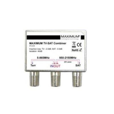 Maximum kabel splitter of combiner: TV-SAT Combiner High Isolation - Metallic