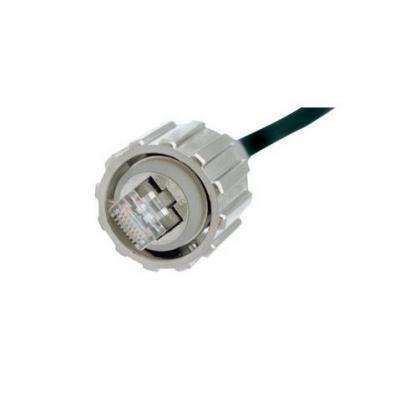 Conec kabel connector: RJ45 Cat. 6A, IP67 - Zwart