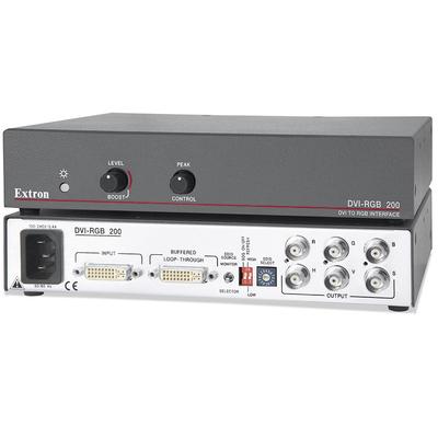 Extron DVI-RGB 200 Video converter - Zwart, Roestvrijstaal