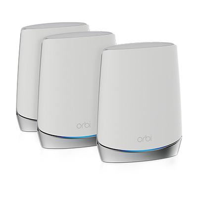 Netgear Orbi RBK753 AX4200 WiFi 6 (3 Pack) Wireless router - Roestvrijstaal, Wit