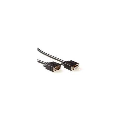 Advanced cable technology VGA kabel : Ultra High Performance VGA verlengkabel male-female met molded kappen - Zwart