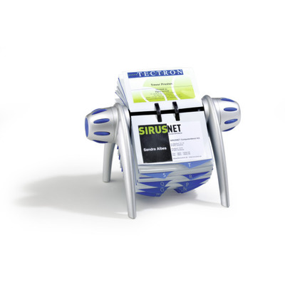 Durable Visifix flip Visitekaarthouder - Blauw, Zilver