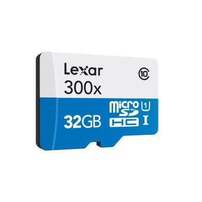 Lexar 32GB microSDHC UHS-I flashgeheugen - Blauw, Wit