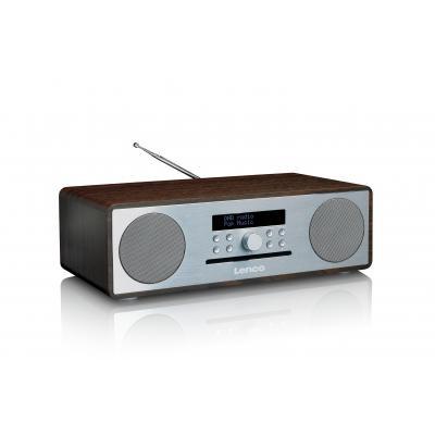 Lenco CD-radio: DAR-070 - Zilver, Walnoot