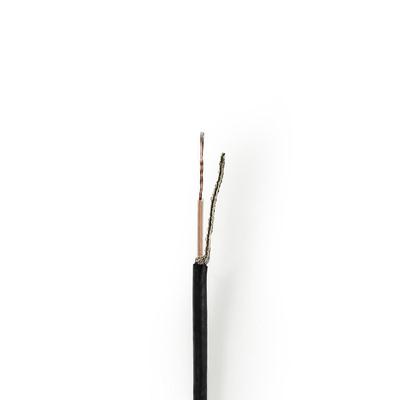 Nedis CSBG0210BK250 Coax kabel - Zwart