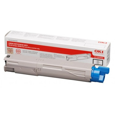 OKI cartridge: High Capacity Black Toner Cartridge for C3520/C3530 MFPs - Zwart