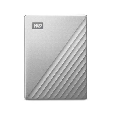 Western Digital 2TB, USB-C, USB 3.0, Windows 10/8.1/7, Zilver Externe harde schijf