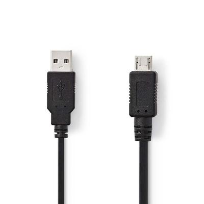 Nedis USB 2.0-Kabel, A Male - Micro-A Male, 2,0 m, Zwart USB kabel