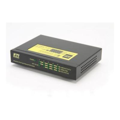 KTI Networks KSD-541-HP Switch - Zwart, Geel