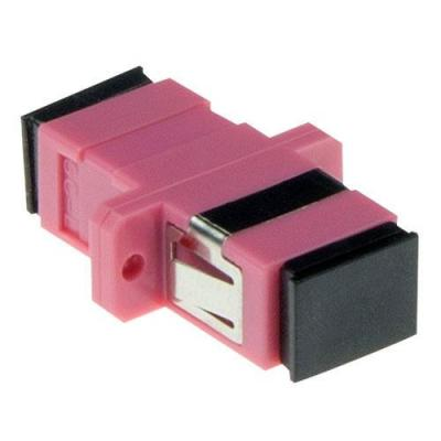Advanced cable technology fiber optic adapter: iber optic SC-SC simplex adapter multimode OM4 - Roze