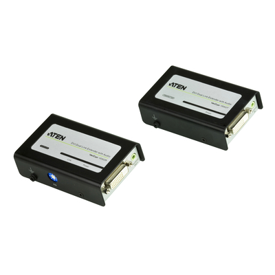Aten DVI Dual Link Extender with Audio AV extender - Zwart