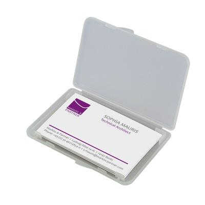 Sigel visitekaarthouder: Etui voor visitekaartjes - Transparant