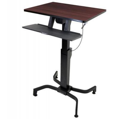 Ergotron vrijstaande tafel: WorkFit-PD - Hout