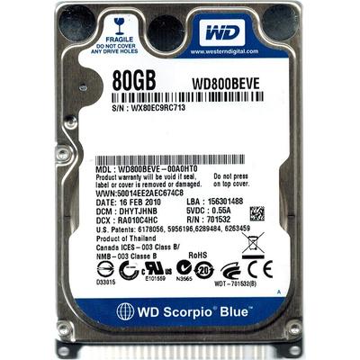 Western Digital Scorpio Blue 80GB Interne harde schijf - Refurbished ZG