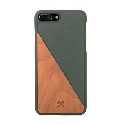 Woodcessories ECOSPLIT Mobile phone case - Groen, Hout